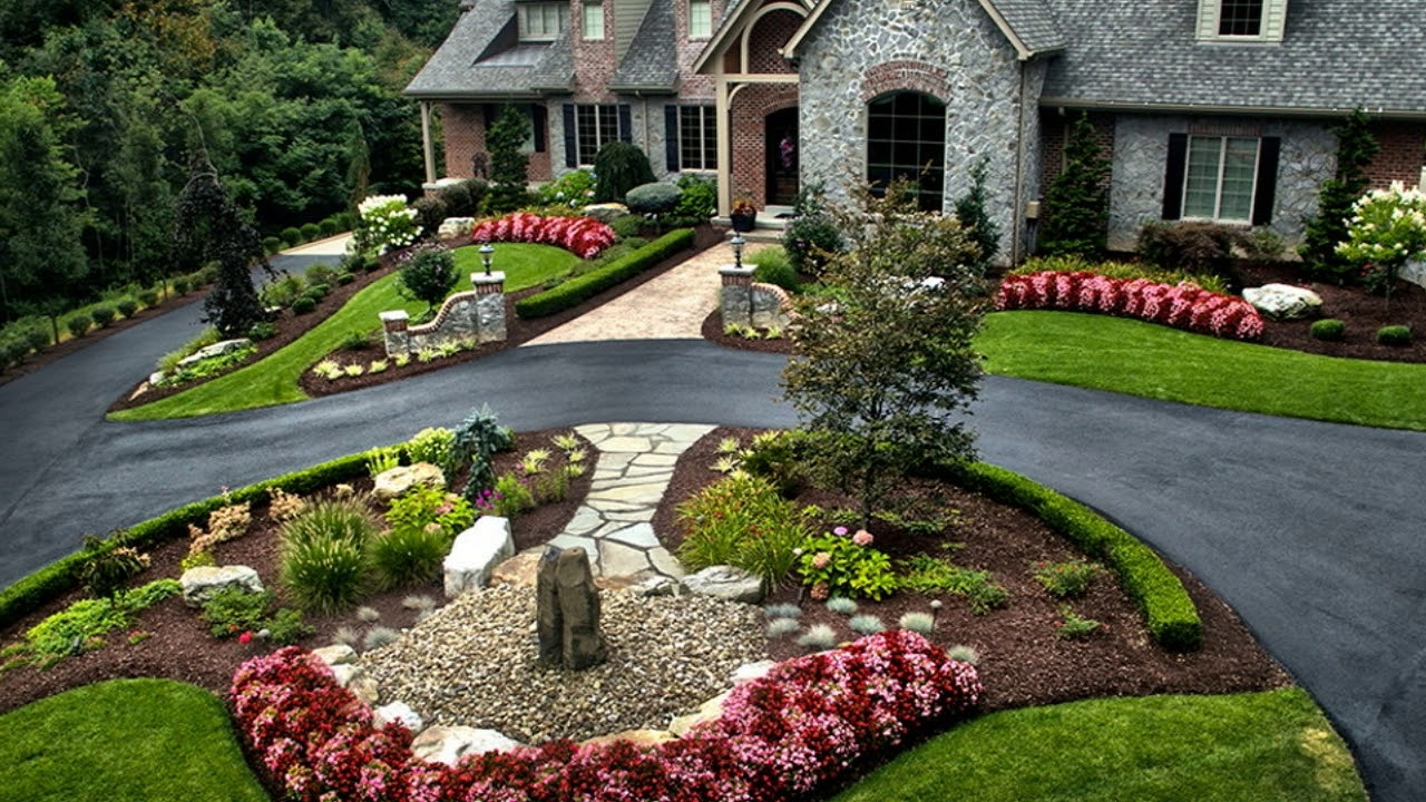 Best 50 Garden Design Driveway - Garden Desain Ideas - YouTube on Landscape Design Ideas  id=43193