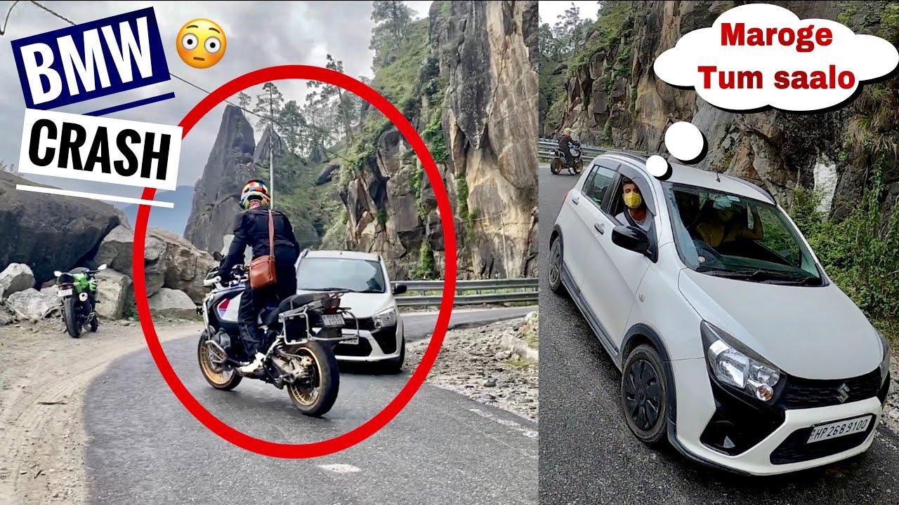 BMW Bike Crash ? 😳|| Bal Bal Bache aaj😓.... Thank GOD 🙏🏻|| RAMPUR TO KAZA || SPITI VALLEY EP - 4