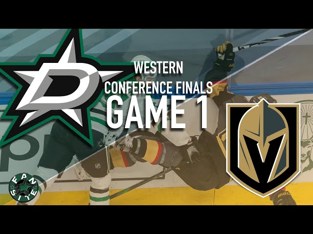 Dallas Stars vs Vegas Golden Knights | Game 1, Western Conference Finals | 2020 Stanley Cup Playoffs