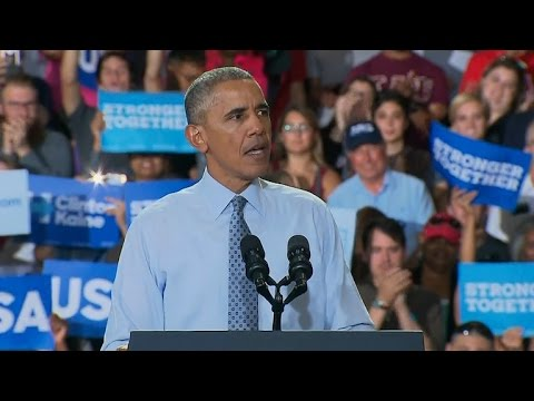 Full Video: President Obama hits GOP for supporting Trump in Ohio