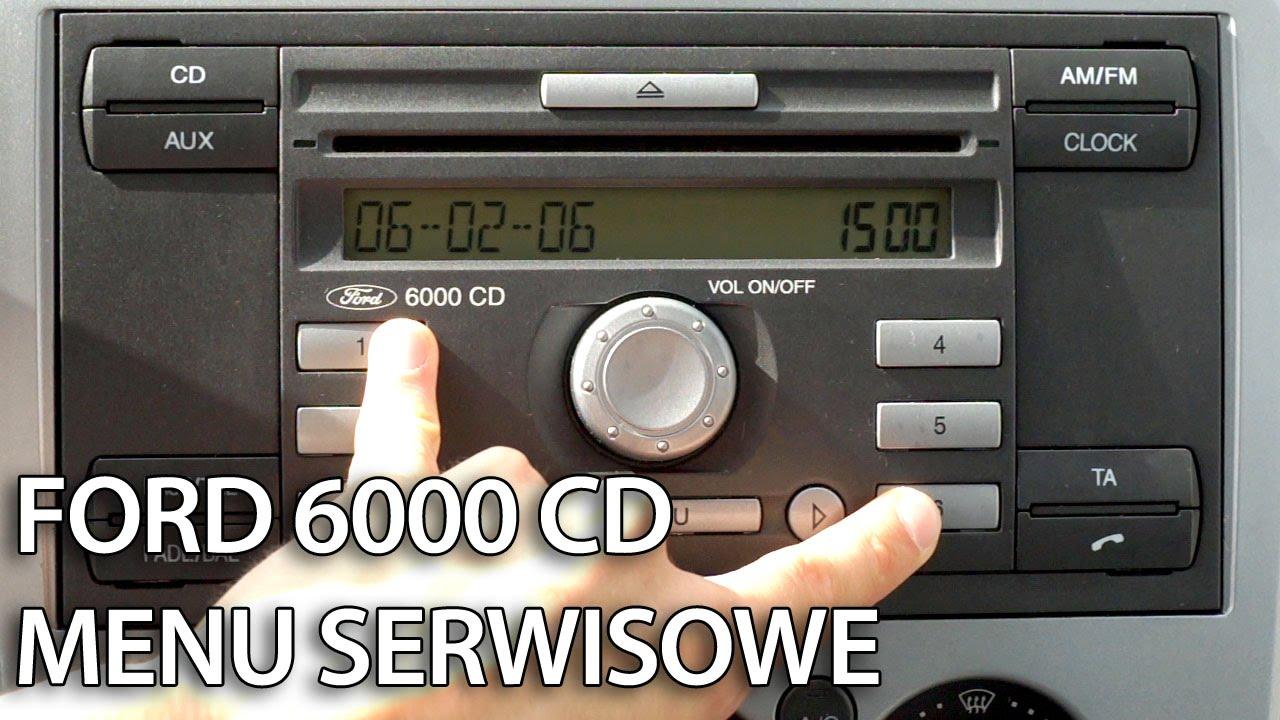 Jak wejść w ukryte menu serwisowe Ford 6000 CD (CMax