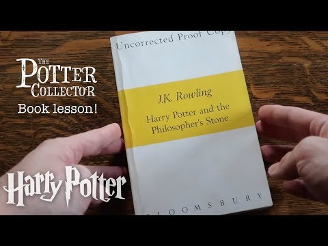 HARRY POTTER AND THE PHILOSOPHER'S STONE UNCORRECTED PROOF Book Lesson J.K. Rowling