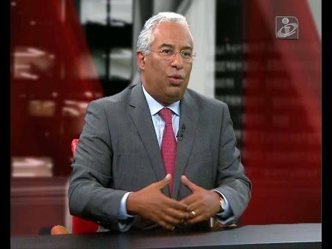Entrevista de António Costa à TVI24