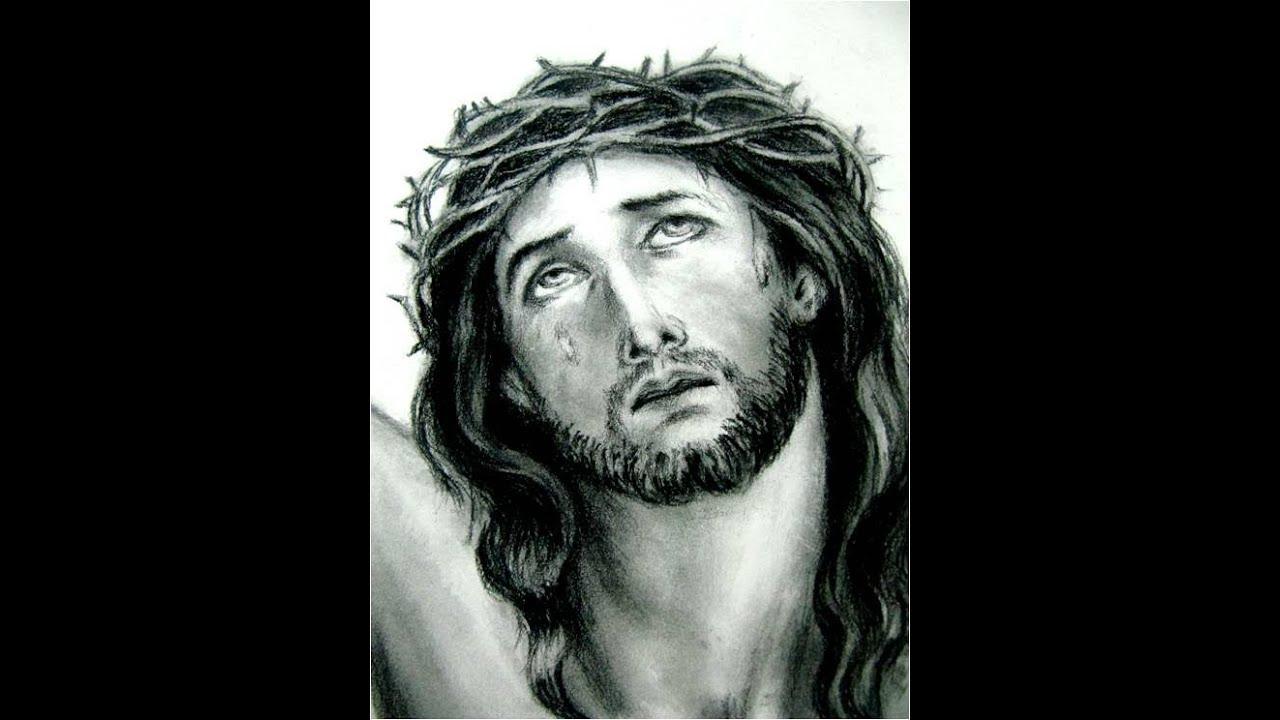 Clases de Dibujo artstico rostro de Cristo  YouTube