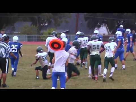 Eric Sierra PUMA Defense plays part 1 Season 2015 Freshman FS