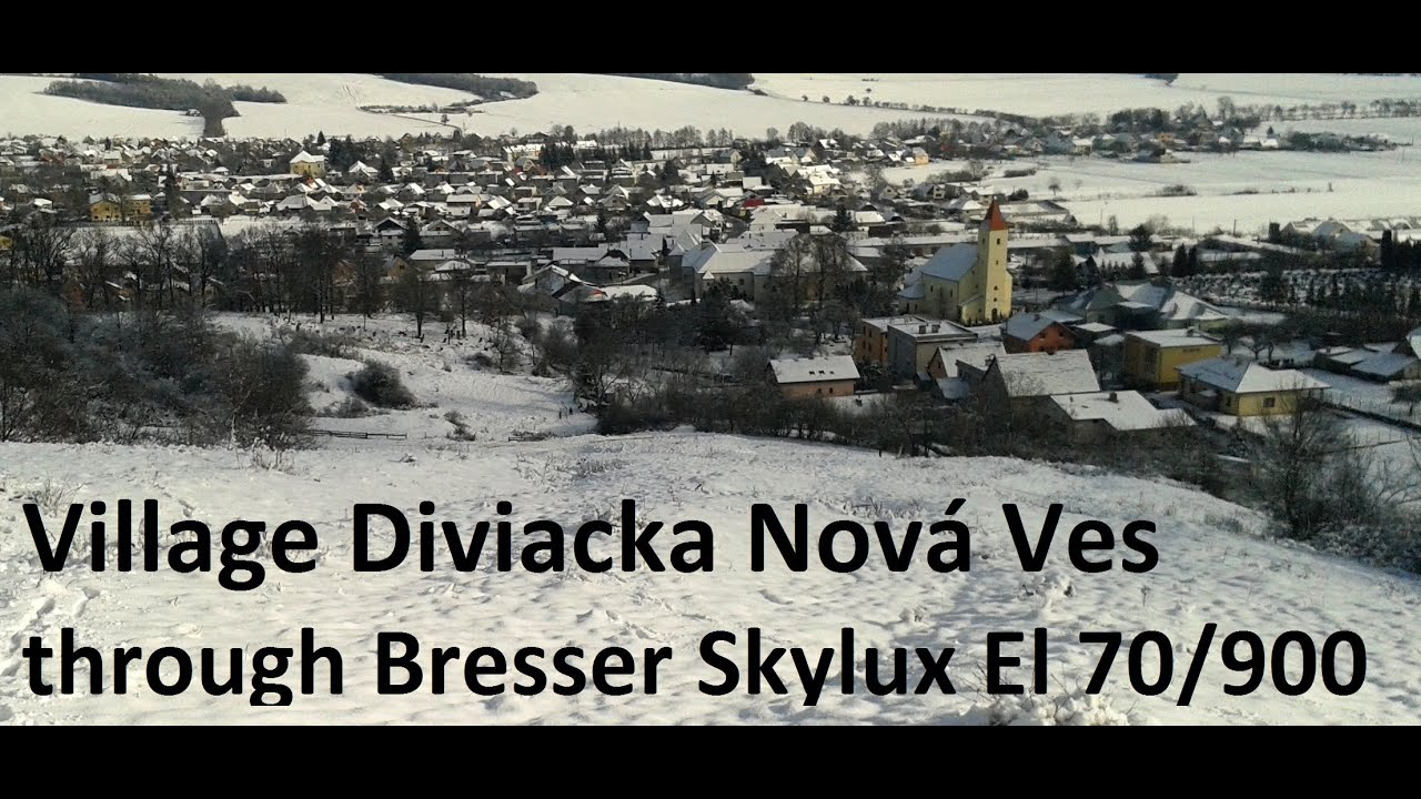 Village through telescope bresser skylux el youtube