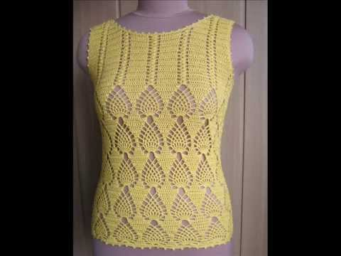 how to crochet tunic top free pattern - YouTube
