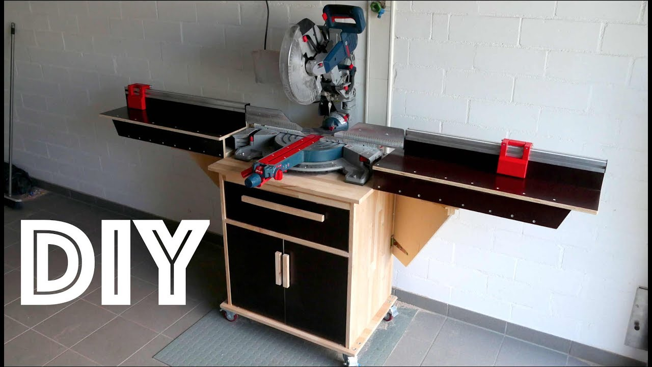 build a mitersaw station stationkapp und gehrungss ge station zum selber bauen youtube. Black Bedroom Furniture Sets. Home Design Ideas