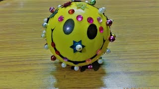 Decorate smiley ball || 5 min || Best out of waste ||