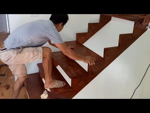 Ingenious Woodworking Techniques And Skills Easy - Build And Install A Wooden Staircase Step By Step