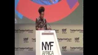 MICHAELLE JEAN, SG  OIF au New York Forum  Africa à Libreville