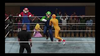 WWE 2K19 Mario and Luigi vs Sonic and Tails