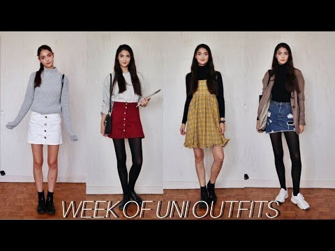 MY EVERYDAY UNIVERSITY OUTFITS | comfy outfits for uni & college thumbnail