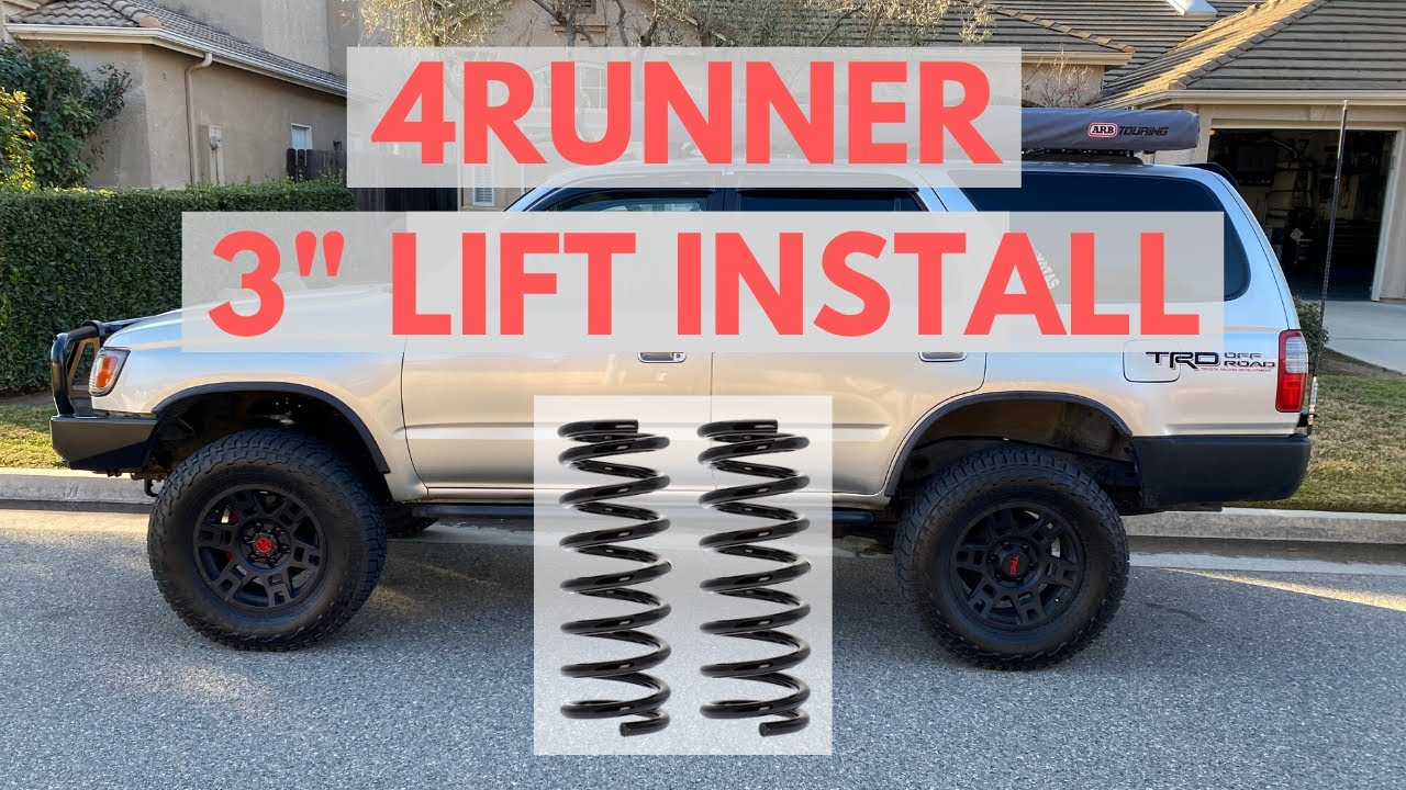 Full Lift Kit for Toyota 4Runner and FJ Cruiser 3 Front Lift Strut Spacers Supreme Suspensions Differential Drop Kit 2WD 4WD 2 Rear Lift Spring Spacers