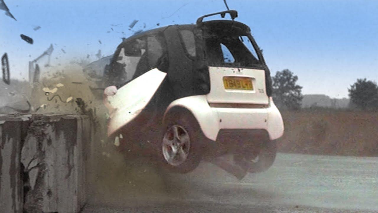 smart car crash test tbt fifth gear youtube