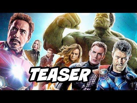 Avengers 4 Endgame Teaser - Silver Surfer and Captain Marvel Trailer Breakdown