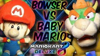 ABM: Baby Mario vs Bowser !!  Mario Kart 8 Deluxe !! Race & Battle !! HD