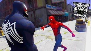 Spiderman VS Venom ! Facing the Nightmare (GTA 5 Ultimate Spiderman Mod)