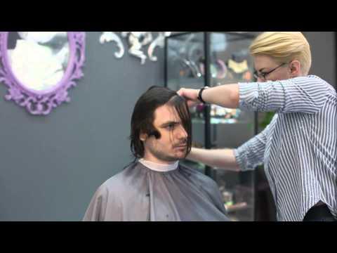 Мужская стрижка на длинные волосы. Екатерина Ракша