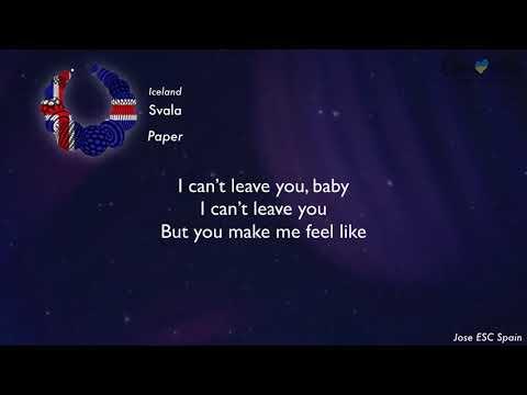 Svala - Paper (Iceland) [Karaoke Version]
