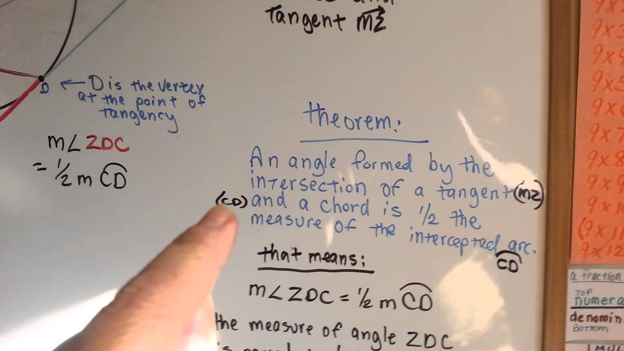 Tangent chord angle measure geometry 171 youtube tangent chord angle measure geometry 171 hexwebz Choice Image