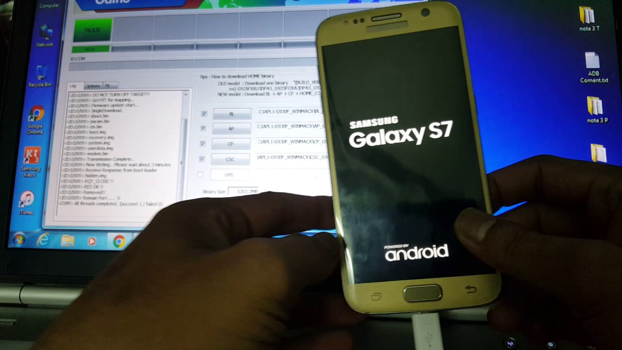 Galaxy S7: SM-G930S (Korea) converted into SM-G930F (International) by ODIN  File