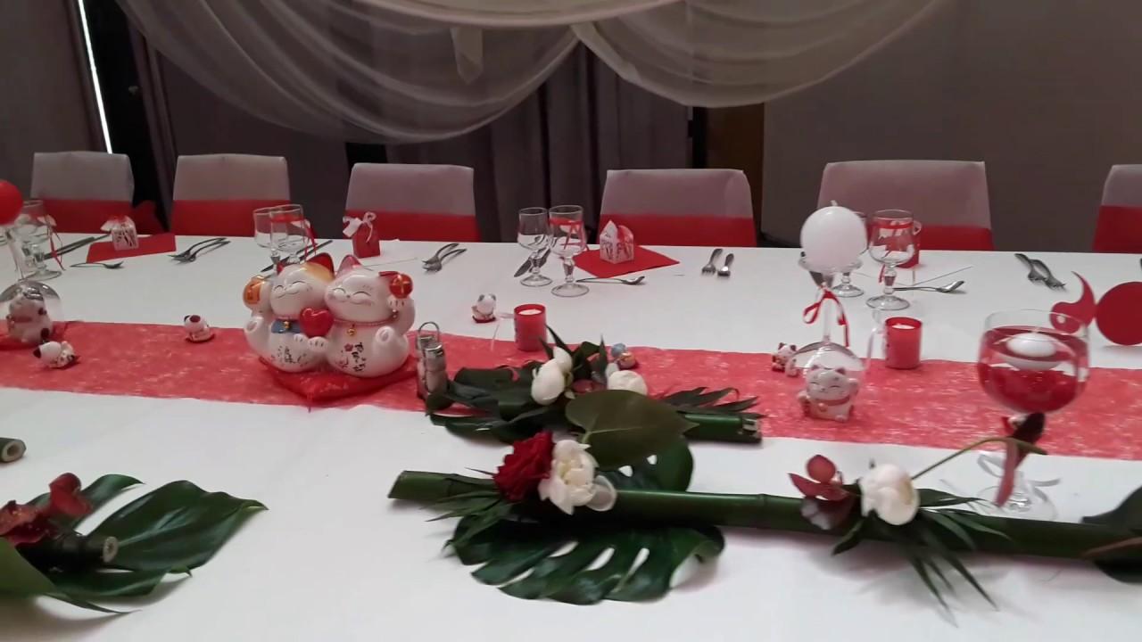 Mariage Rouge Et Blanc Theme Japonais Zen