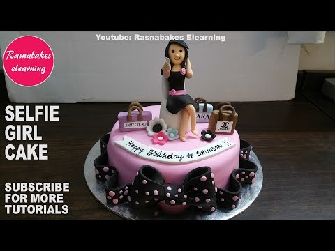how-to-make-sweet-happy-birthday-cake-for-selfie-loving-girl:cute-cake-design-ideas-video