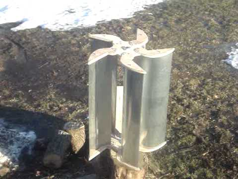 Wind Turbine Vertical Axis Rotor Youtube