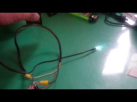 光電スイッチとLED
