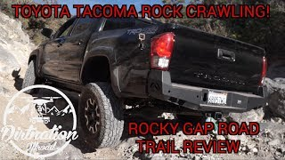 Toyota Tacoma Rock Crawling! Rocky Gap Road Trail Review, Dirt…