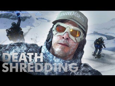 Фанат построил в Death Stranding горнолыжный курорт для веселья и трюков | Канобу