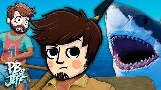 SCARY OCEAN SURVIVAL! | Raft Co-op Gameplay (Part 1)