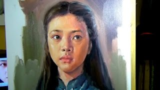 Oil Painting Portrait on Canvas Techinques