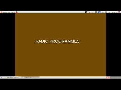 Types of Radio Programmes/ News Programmes / News bulletin