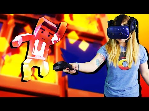 LADY CTOP Saves Man from BURNING BUILDING! - Just In Time Incorporated Gameplay - VR HTC Vive Pro