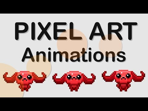 HOW TO ANIMATE PIXEL ART GAME CHARACTERS IN PS - TUTORIAL thumbnail