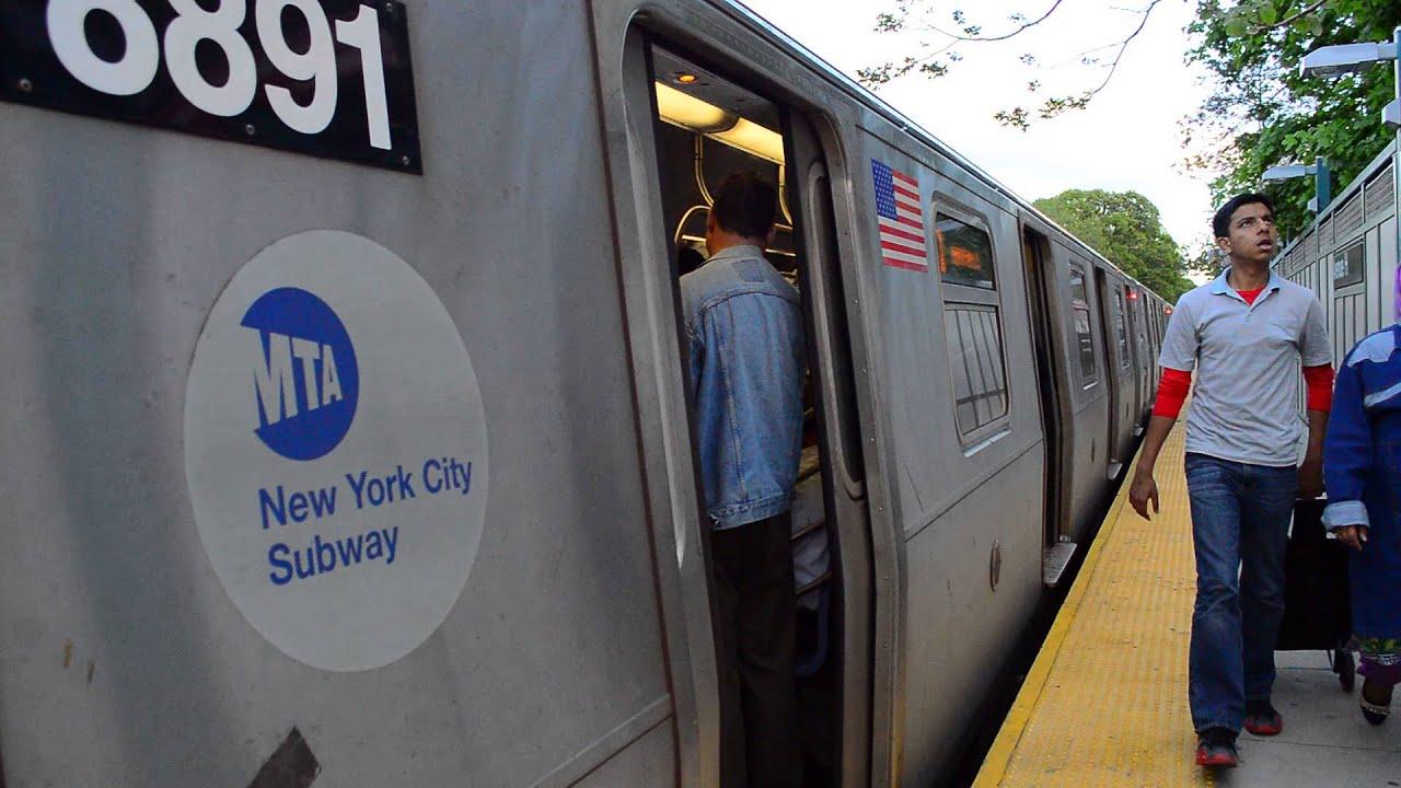 Coney Island Bound Train Of Siemens R160Bs On The Q ...