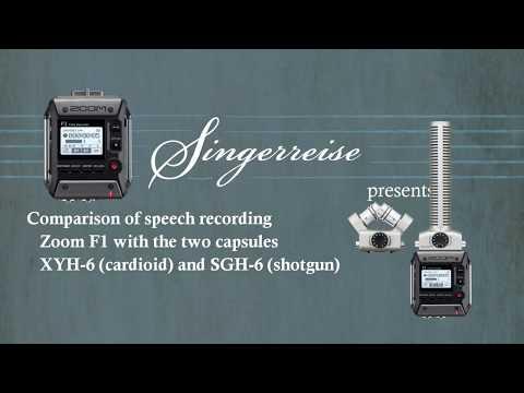 Speech audio test: Zoom XYH-6 vs Zoom SGH-6 with Zoom F1 (F1-SP)