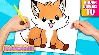 Como dibujar un ZORRO KAWAII - Animales Kawaii