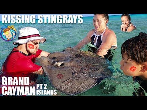 KISSING STINGRAYS!  (FV Family  Grand Cayman Islands #2)