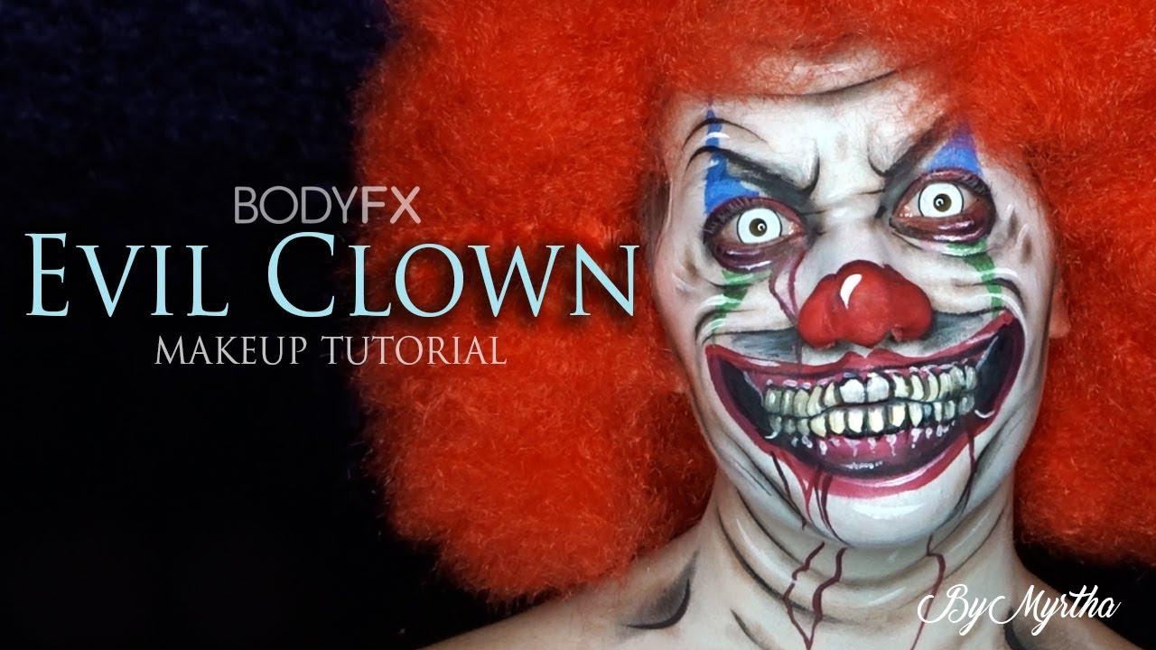 EVIL CLOWN Makeup Tutorial - BODYFX - YouTube