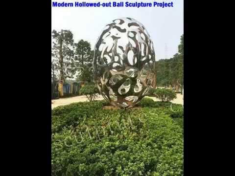 Metal Outdoor Art Sculpture Ball Stainless Steel Statue