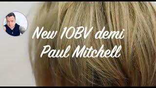 Foil hi lights blonde hair, New Paul Mitchell 10BV Demi toner