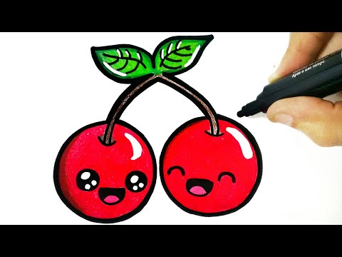 How To Draw A Cherry Drawing A Cherry Youtube