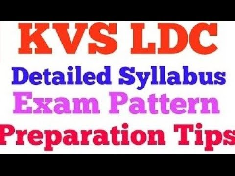 Download KVS LDC Preparation 2018-COMPLETE STUDY PLAN