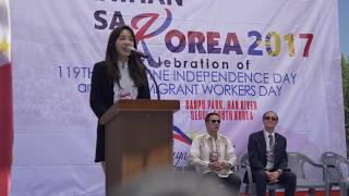 Sandara Park at the Bayanihan 2017, Philippines Independence Day 2017 Celebration in Seoul