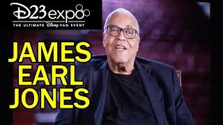 James earl jones accepts his disney legends award via a video message at d23 expo 2019 in anaheim, california.