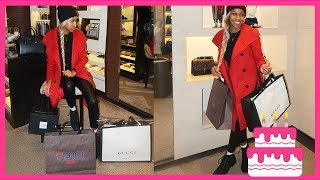 I BOUGHT MYSELF FENDI, GUCCI, AND CHANEL FOR MY BIRTHDAY! 5TH AVE SHOPPING!