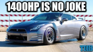 TERRIFYING Godzilla POWER - 1400HP Nissan GTR Review